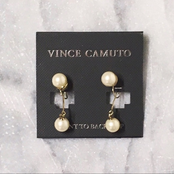 Vince Camuto Jewelry - Vince Camuto Faux Pearl Clip Back Earrings New